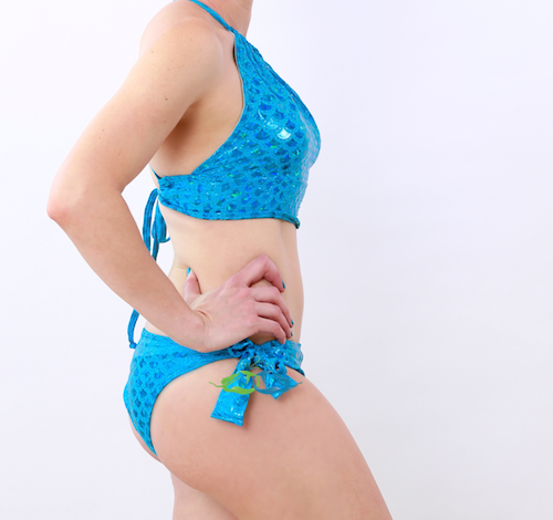 True Sea Blue Scale<p>Mermaid Swimsuit<p/><a/>