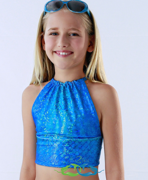 Matching Catalina Aqua Tankini TOP (Child/Teen)