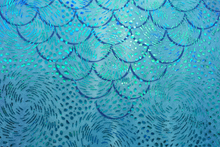 mermaid scale tails in swimmable mermaid tail fabric