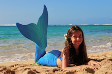 Catalina sea blue swimmable mermaid tail for teens