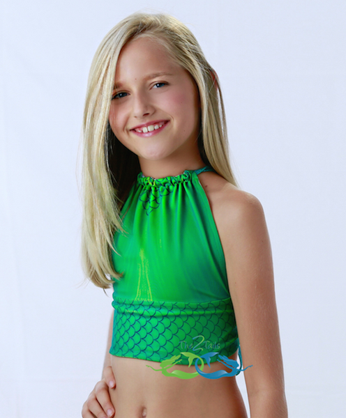 Catalina sea green swimmable mermaid tail child or teen