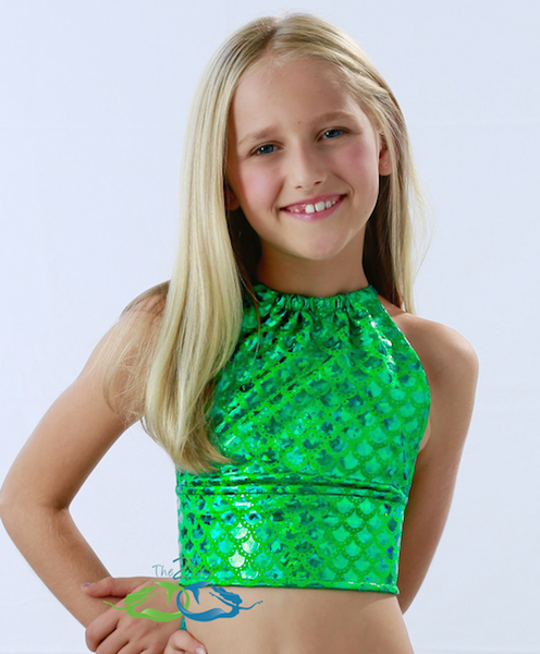 Matching True Sea Green Scale Tankini TOP (Child/Teen)