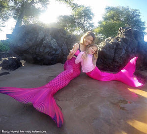 Pink Lilac Sea Pearl Scale Curvy Tail