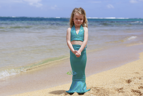 Miami teal   mermaid toddler tail
