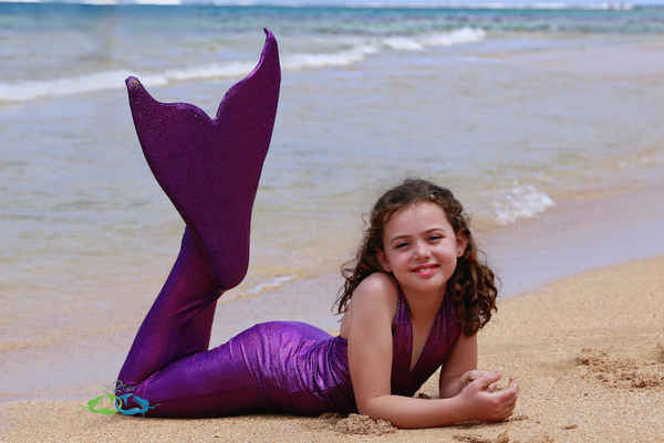Sparkle Purple teen swimmable mermaid tail
