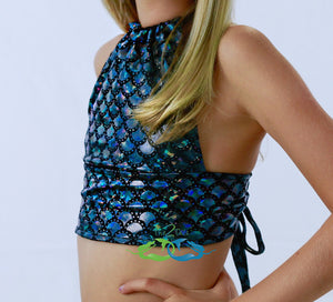 True Black Scale<p>Mermaid Swim Top<p/><a/>