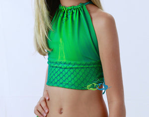 Catalina Sea Green Mermaid Swim Top