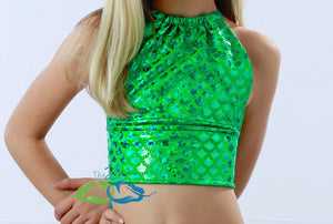 True Sea Green Scale<p>Mermaid Swim Top<p/><a/>