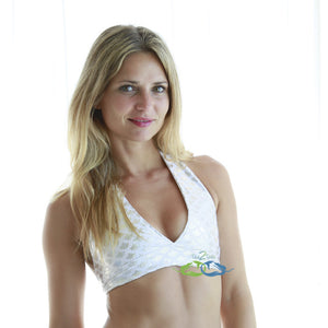 True White Sand Scale<p>Mermaid Swim Top<p/><a/>