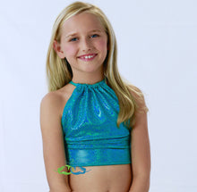 Mermaid child swimsuit in miami teal