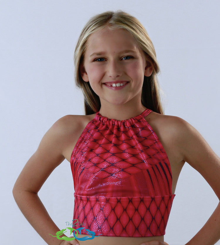 Matching Pink Lilac Tankini Top Childteen  The2Tails-9604