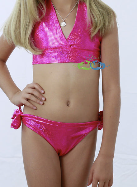 Matching Sparkle Pink Triangle SWIMSUIT (Child/Teen)