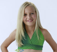 Catalina sea green swimmable mermaid tail matching sporty child top