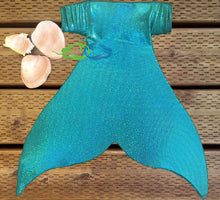 Mermaid tail skin for teens ink Miami teal