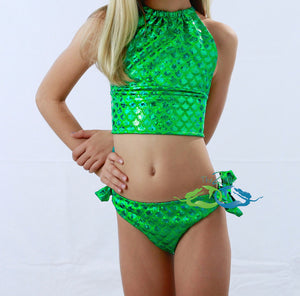 True Sea Green Scale<p>Mermaid Swimsuit<p/><a/>