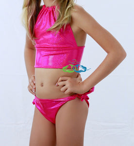 Sparkle pink mermaid swimsuit for kids
