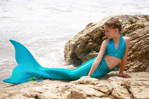 Child Miami Teal mermaid tail