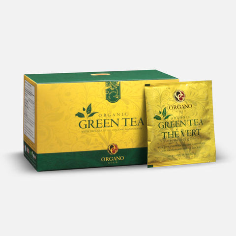 Organic Green Tea  Find your inner calm with this soothing organic tea 25 Sachets Per Box / $1.32 Per Serving