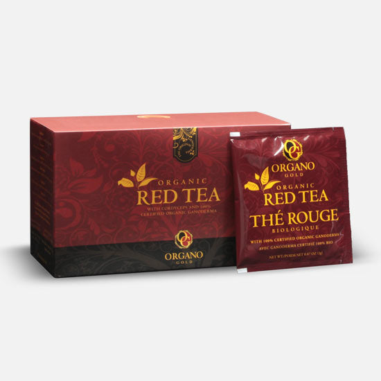 Organo™ Red Tea with Cordyceps and Ganoderma lucidum 25 Sachets Per Box / $1.32 Per Serving