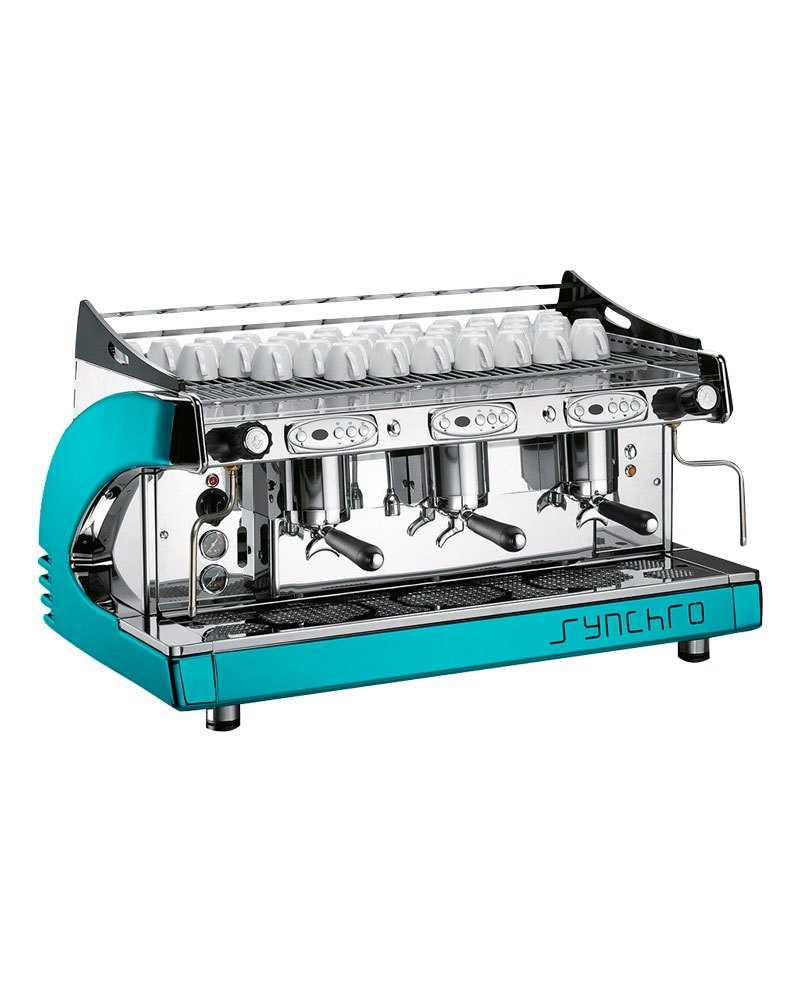 Synchro Espresso Coffee Machine 3 Group with Grinder