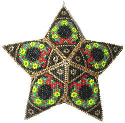 12 Days: Five Golden Rings Peyote Star