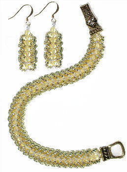 B13AG Citrine Flat Spiral Bracelet & Earrings