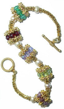 BPC7 Birthstone Beaded Beads Bracelet