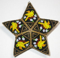 12 Days: Four Calling Birds peyote star