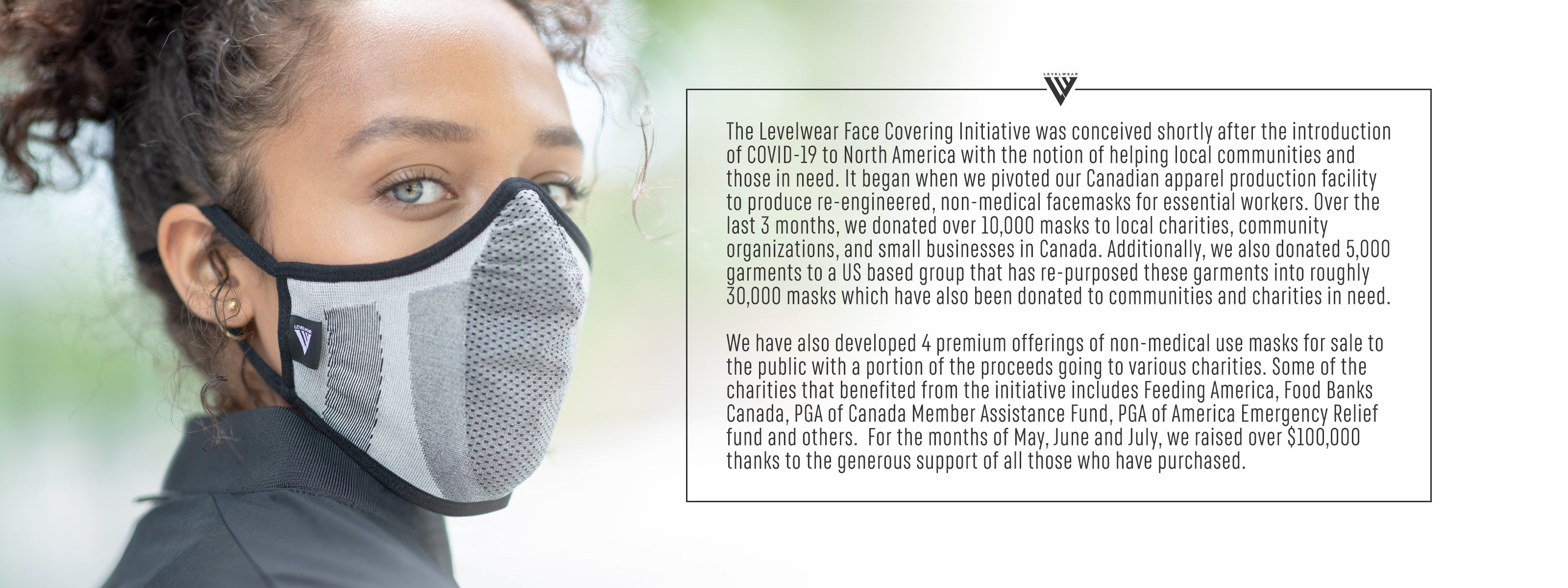 The Levelwear Face Covering