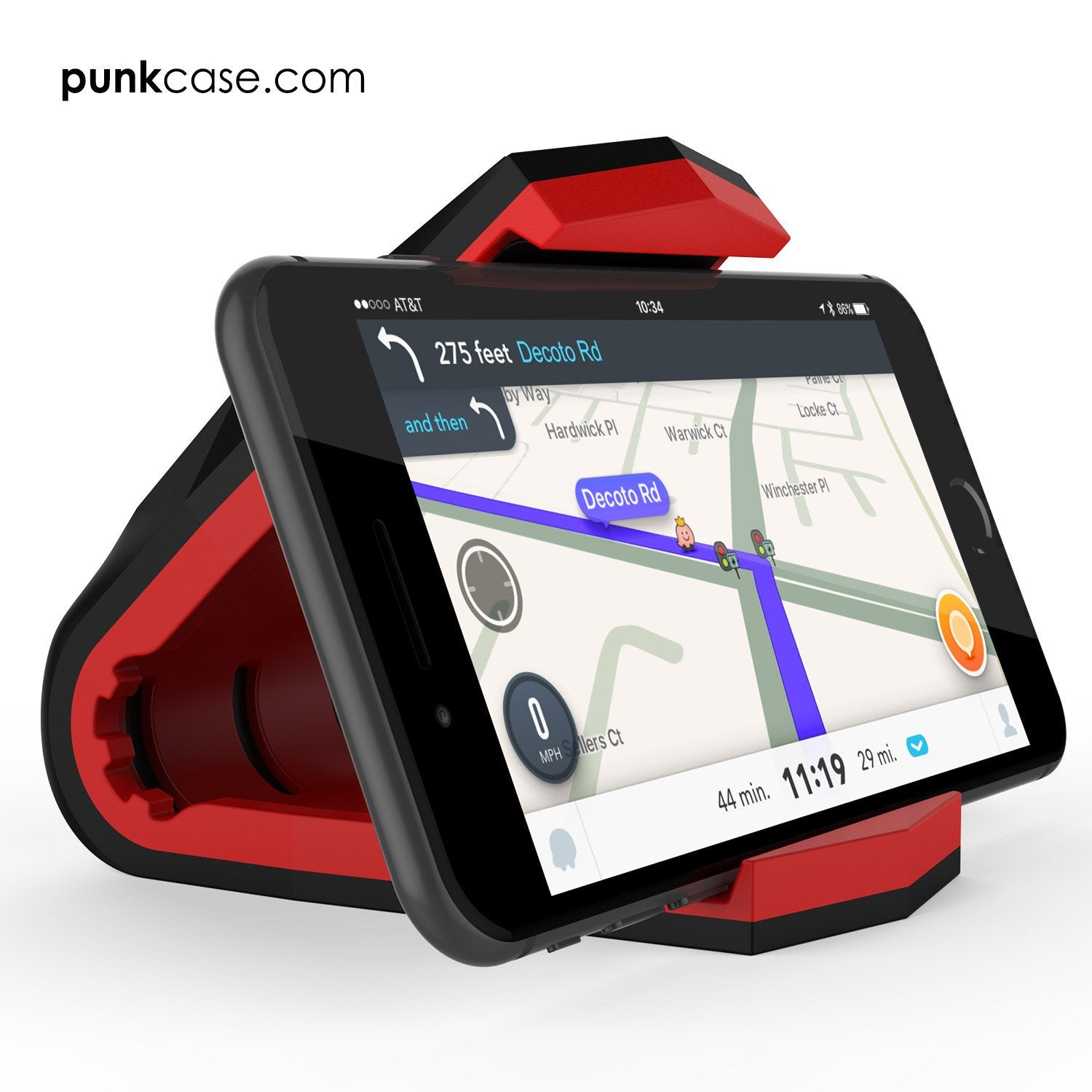 Viper Car Phone Holder Red, Universal Dashboard Mount for all Smartphones