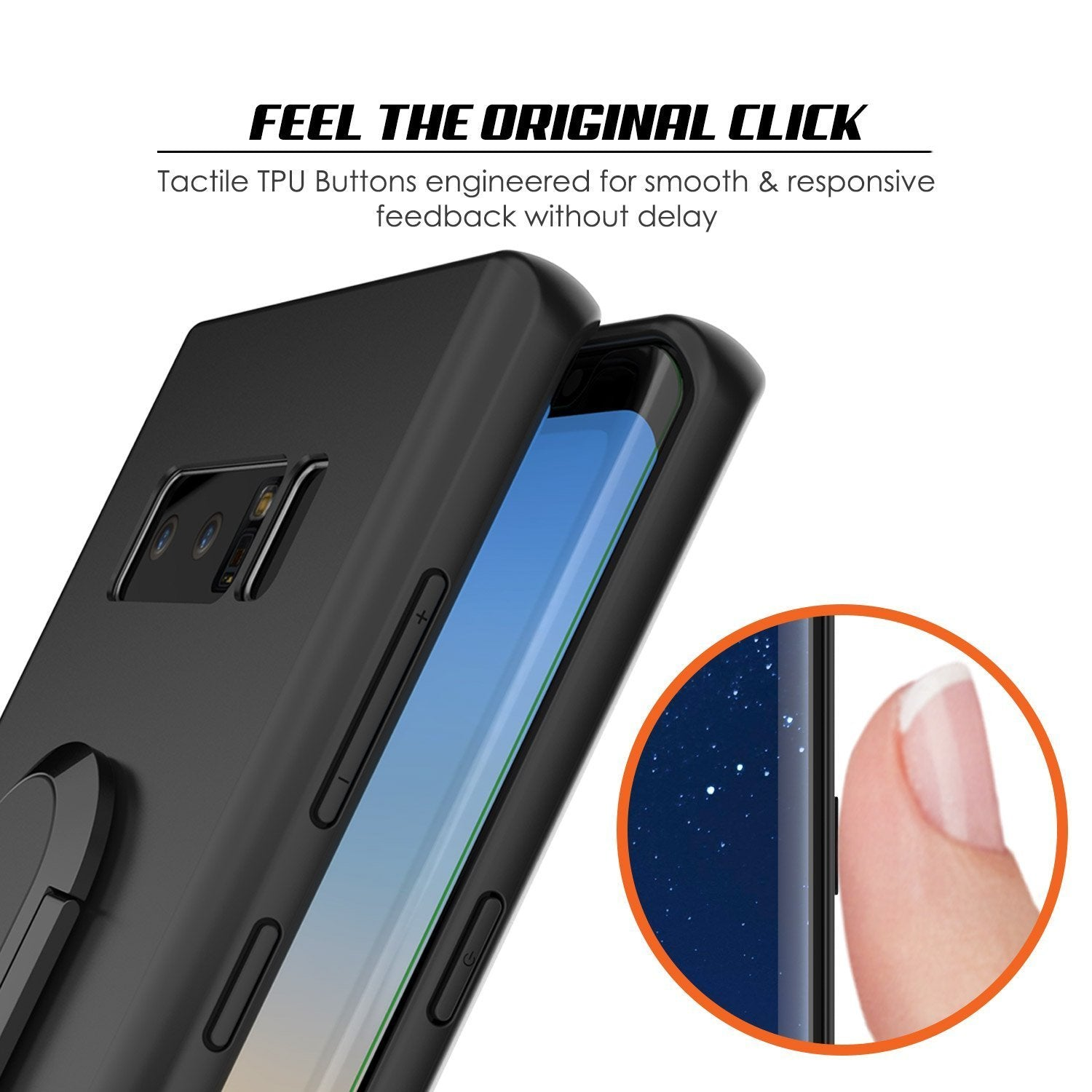 Galaxy Note 8 Case, Punkcase Magnetix Protective TPU Cover W/ Kickstand, Screen Protector [Black]