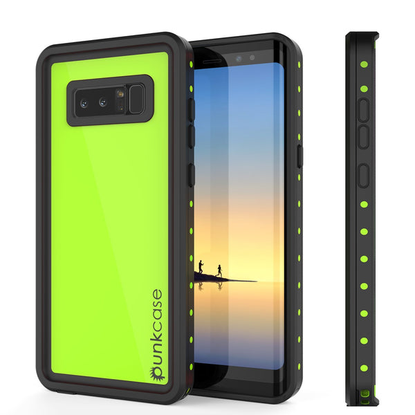 Galaxy Note 8 Waterproof Case PunkCase StudStar Light Green