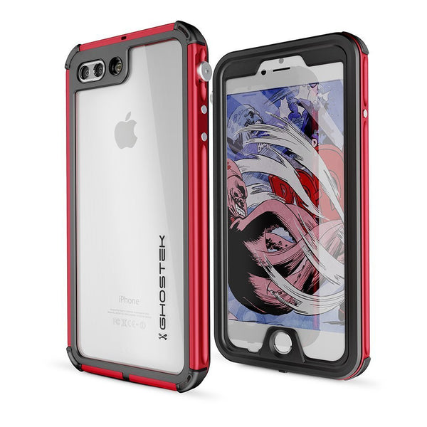 GHOSTEK - Atomic 3.0 Series Waterproof Case for Apple IPhone 7+ Plus | Red