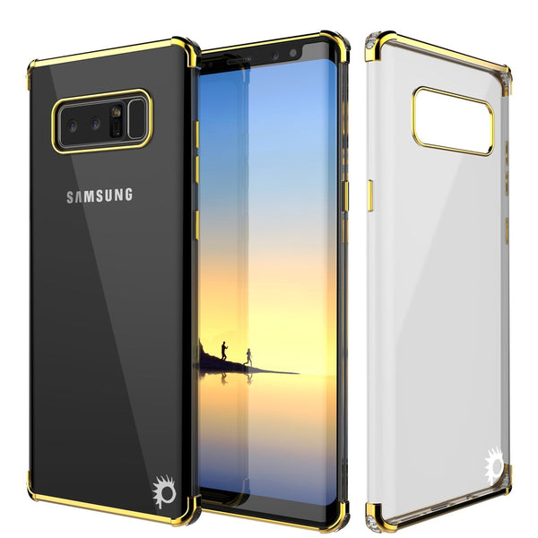 Note 8 Case, Punkcase [BLAZE SERIES] Protective Cover W/ PunkShield Screen Protector [Shockproof] [Slim Fit] for Samsung Galaxy Note 8 [Gold]