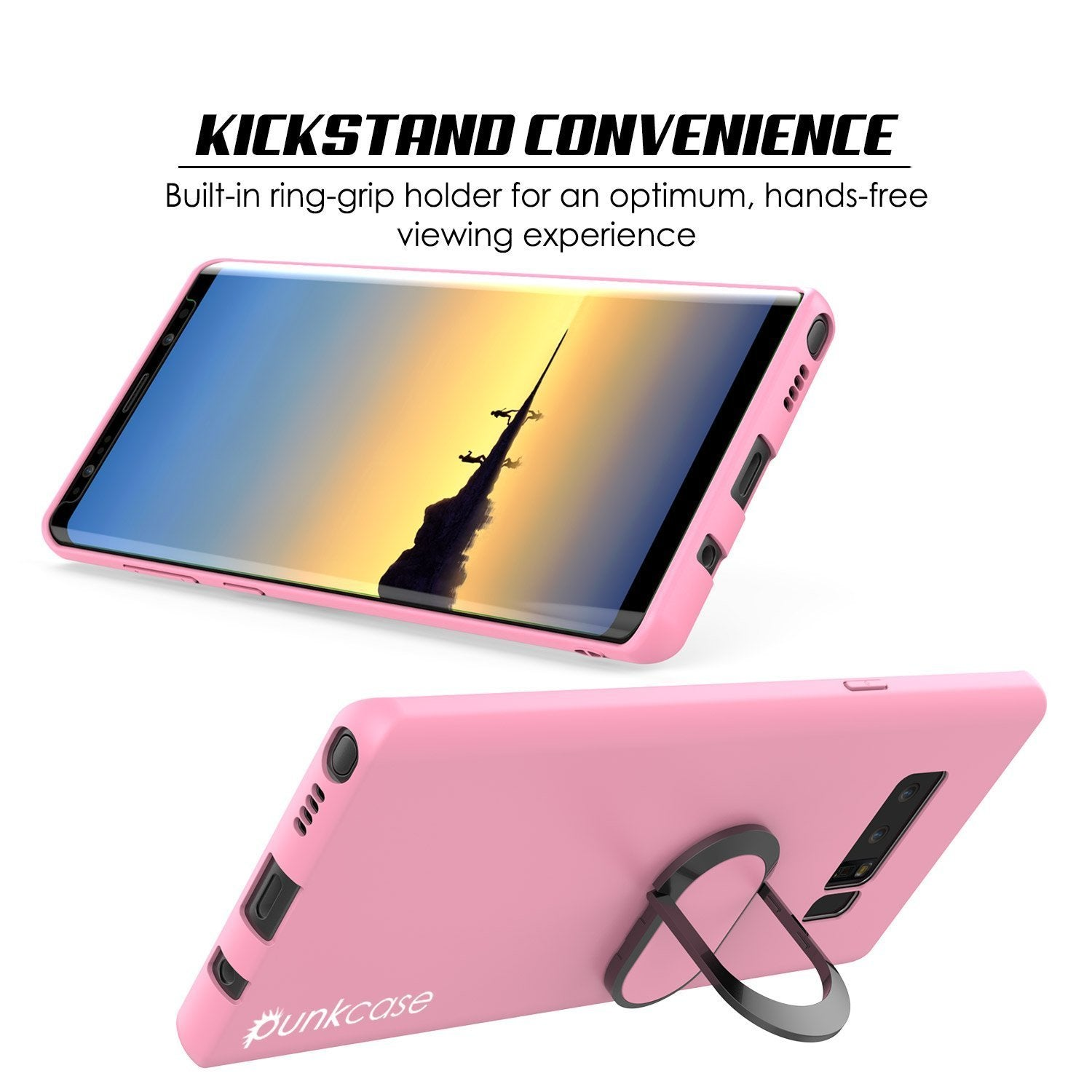 Galaxy Note 8 Case, Punkcase Magnetix Protective TPU Cover W/ Kickstand, Screen Protector [Pink]