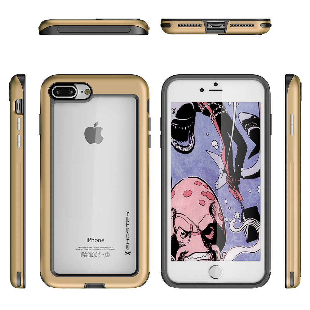 iPhone 8+ Plus Case, Ghostek®  Atomic Slim Series  for iPhone 8+ Plus Rugged Heavy Duty Case[GOLD]