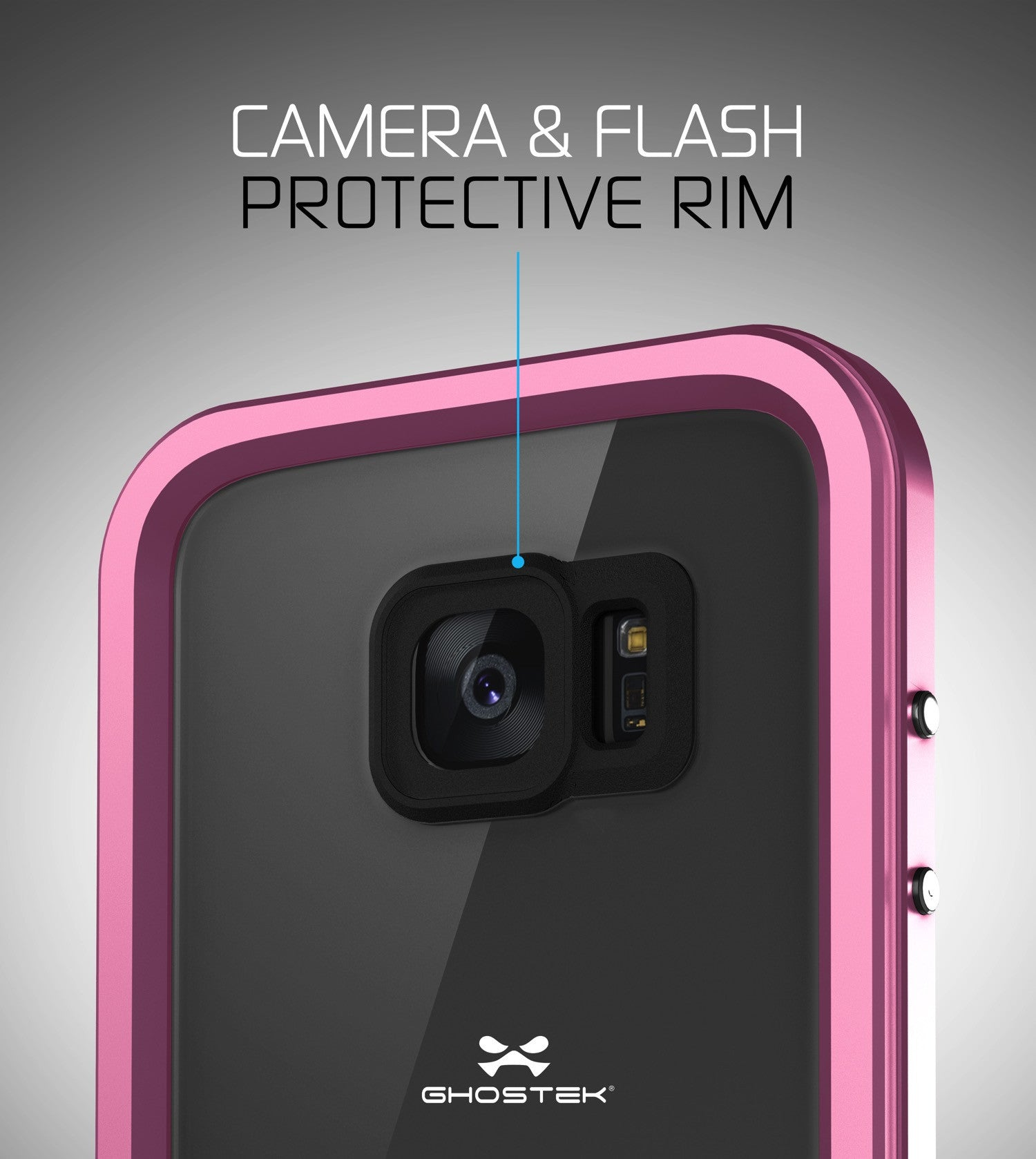 GHOSTEK - Atomic 2.0 Series Waterproof Case for Samsung S7 Edge | Pink