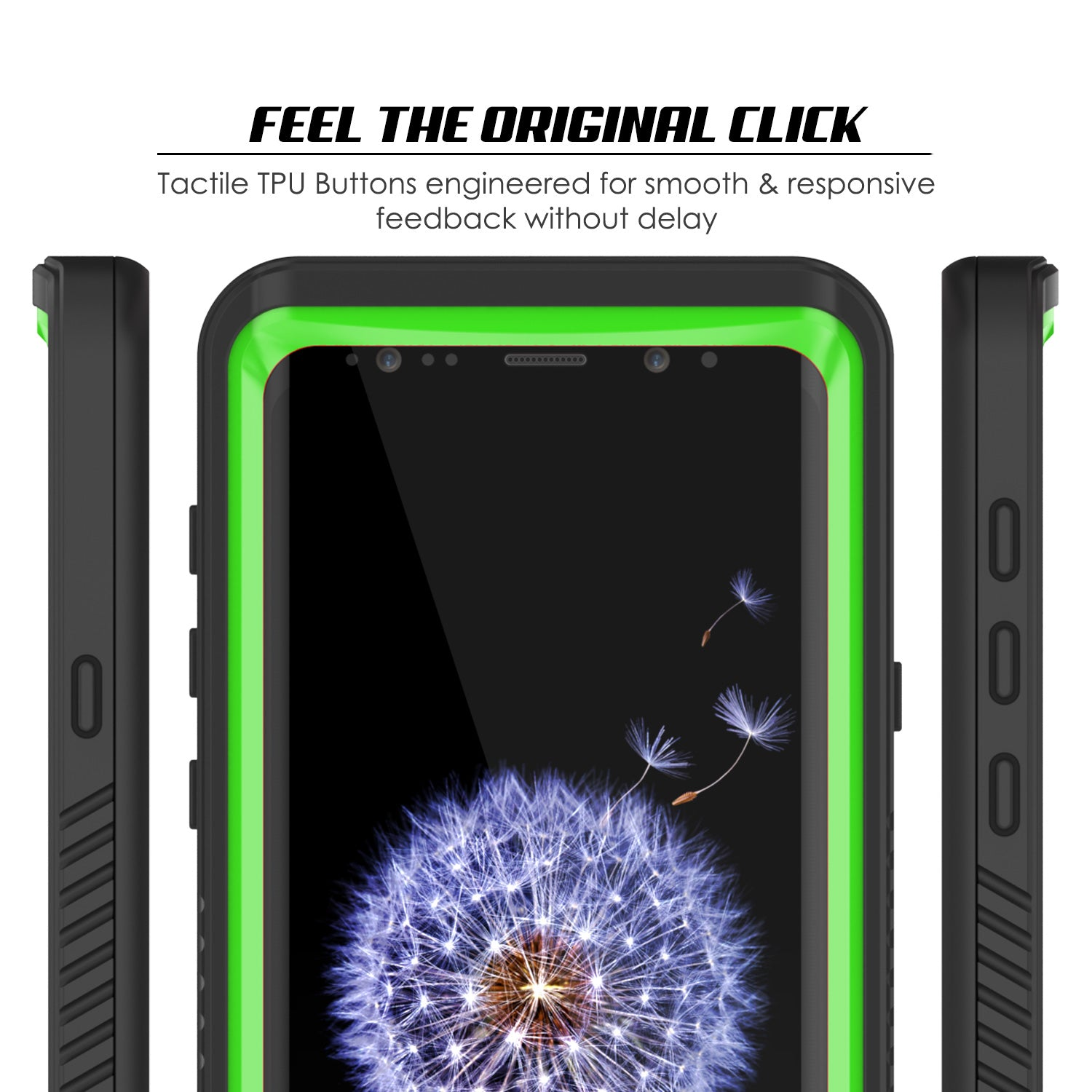 Punkcase Galaxy S9 Extreme Series Waterproof Body | Light Green