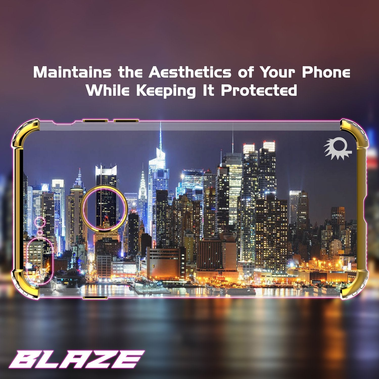 iPhone 8 PLUS Case, Punkcase BLAZE Gold Series Protective Cover W/ PunkShield Screen Protector