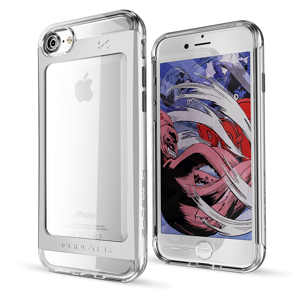 GHOSTEK - Cloak 2.0 Series Armor Case for Apple iPhone 7 | Silver