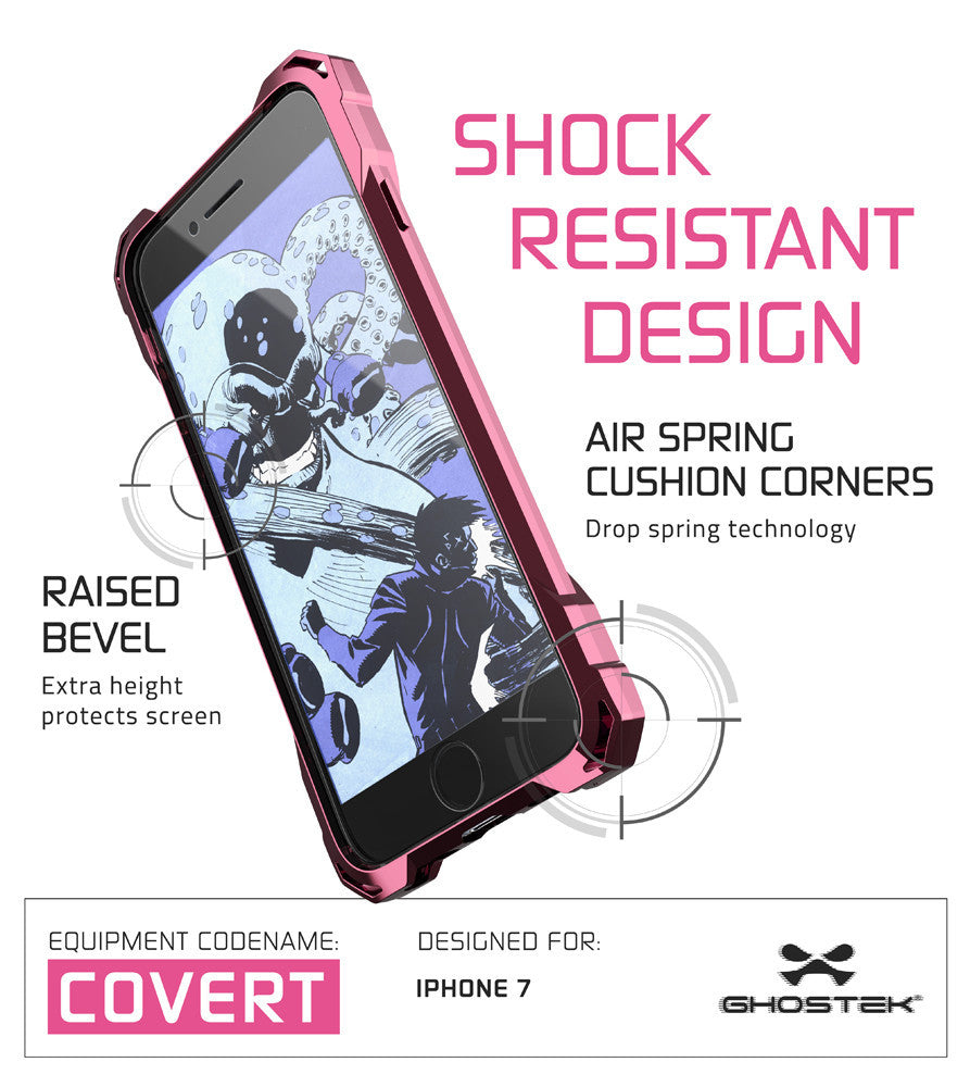 GHOSTEK - Covert Series Premium Impact Case for Apple iPhone 7 | Pink