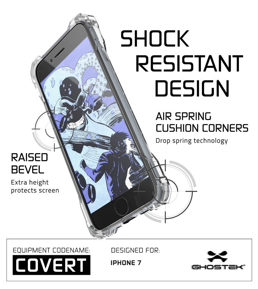 GHOSTEK - Covert Series Premium Impact Case for Apple iPhone 7+ Plus | Clear