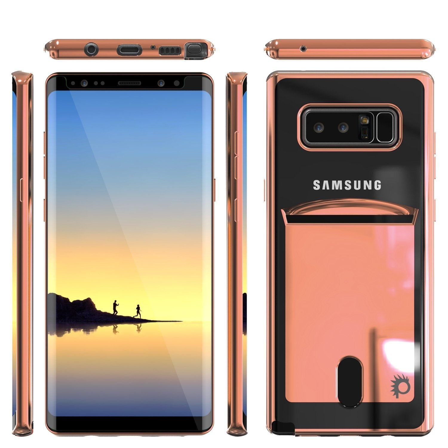 Galaxy Note 8 Case, PUNKCASE® LUCID Rose Gold Series | Card Slot | SHIELD Screen Protector