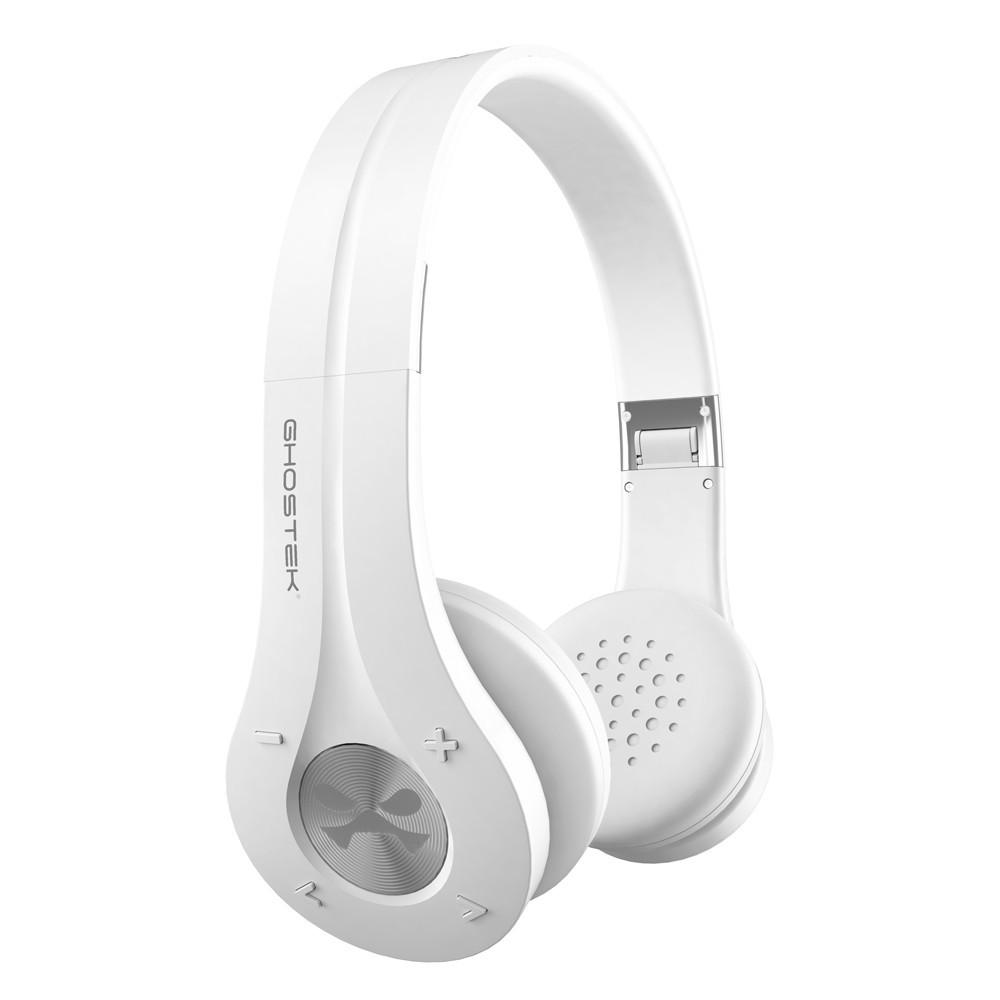 GHOSTEK® EARSHOT WIRELESS HEADPHONES | BLUETOOTH (WHITE)