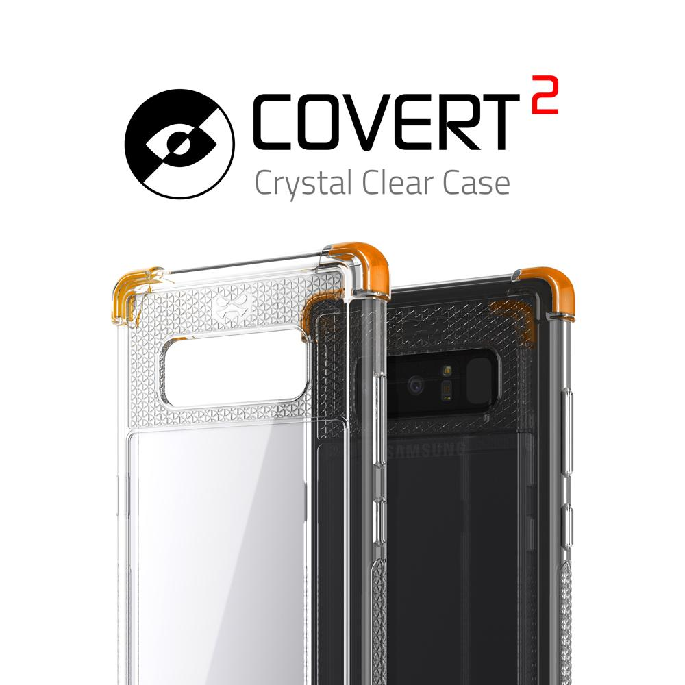 Galaxy Note 8 Case, Ghostek Covert 2 Series for Galaxy Note 8 Protective Case  [ORANGE]