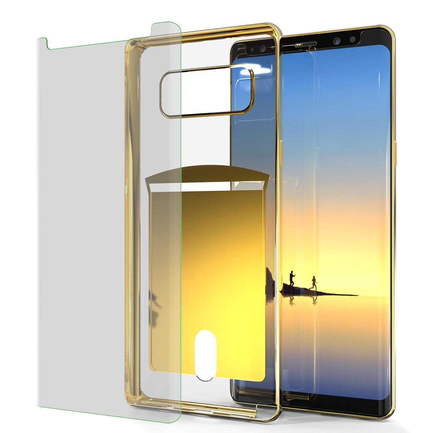 Galaxy Note 8 Case, PUNKCASE® LUCID Gold Series | Card Slot | SHIELD Screen Protector | Ultra fit