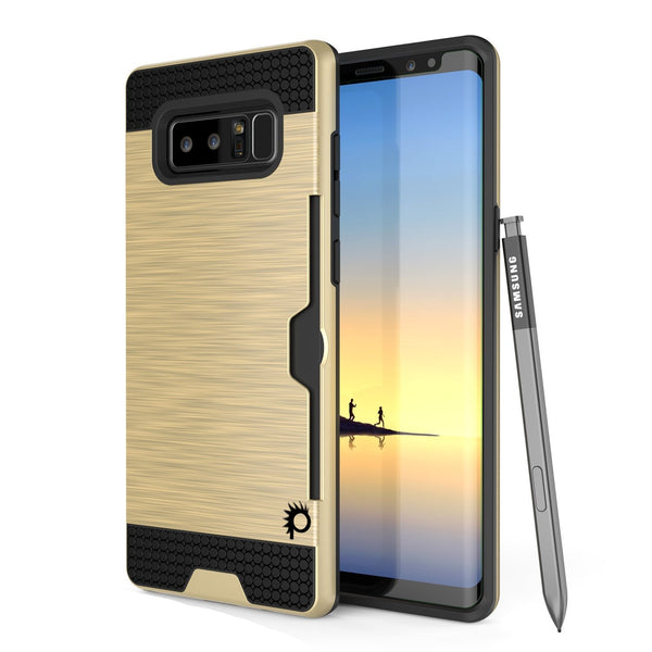Galaxy Note 8 Case, PUNKcase [SLOT Series] Slim Fit for Samsung Note 8 [Gold]