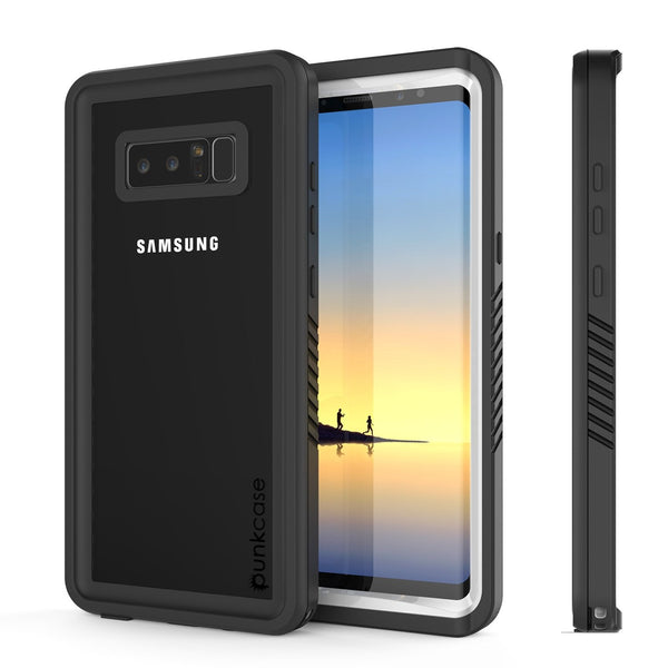 Galaxy Note 8 Case, Punkcase [Extreme Series] [Slim Fit] [IP68 Certified] [Shockproof] Armor Cover W/ Built In Screen Protector [White]