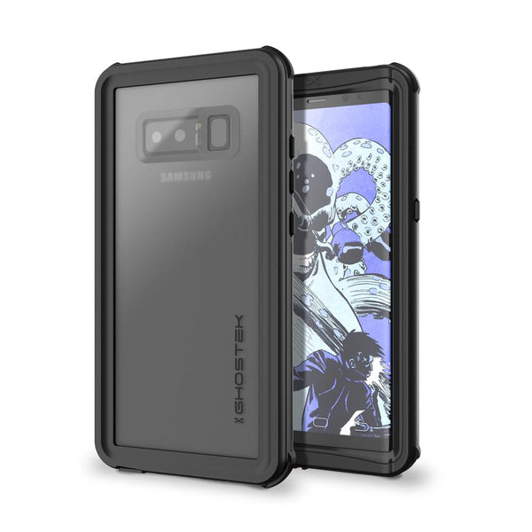 Galaxy Note 8, Ghostek Nautical Series  for Galaxy Note 8 Rugged Waterproof Case | BLACK