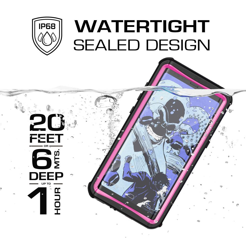 Galaxy Note 8, Ghostek Nautical Series Waterproof Case for Samsung Galaxy Note 8 Heavy Duty | Pink